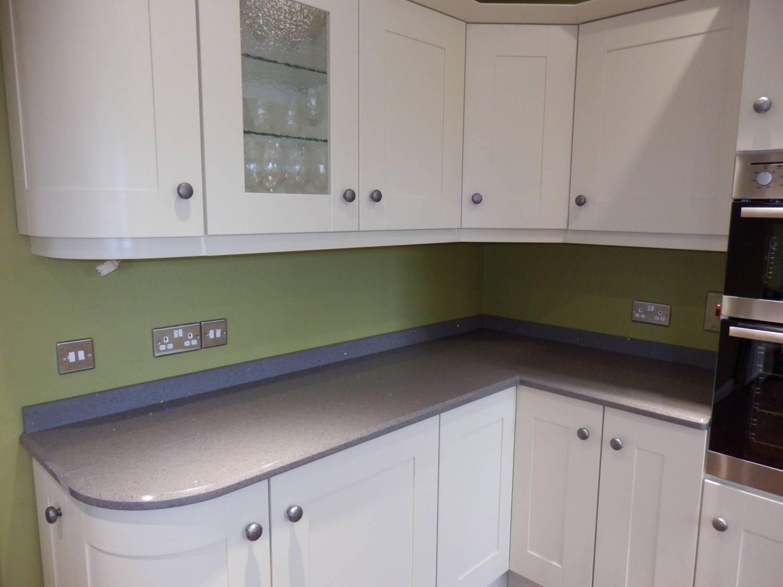 Grey Kitchen White Worktop